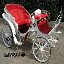 STYLISH WHITE RED CARRIAGES