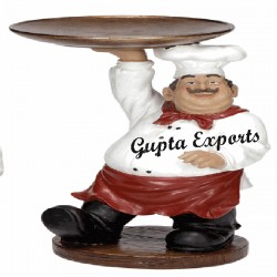 CHEF WITH PLATE STATUE