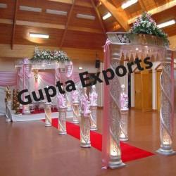 WEDDING CRYSTAL WHITE MANDAP